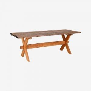 Ellos Artklart Pöytä Ristikkäisin Jaloin Luonnonvärinen
