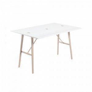 Ellos Aryon Ruokapöytä Valkoinen 45-90x130 Cm