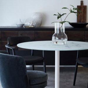 Ellos Brisbane Ruokapöytä Valkoinen Ø 110 Cm