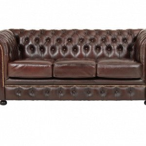 Ellos Chesterfield London Sohva 3:N Istuttava Ruskea