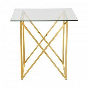 Ellos Cross Pikkupöytä Messinkiä 55x55 Cm