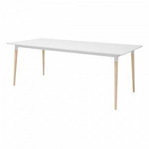 Ellos Kajsa Ruokapöytä Valkoinen 100x200 Cm