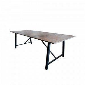 Ellos Mas Ruokapöytä Ruskea 100x250 Cm