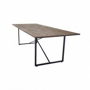 Ellos Pandy Ruokapöytä Ruskea 100x250 Cm