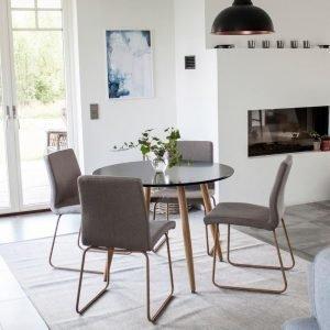 Ellos Plaza Pöytä Ja 4 Mace Tuolia Ruokaryhmä Monivärinen