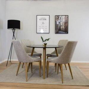 Ellos Plaza Pöytä Musta 75x100 Cm