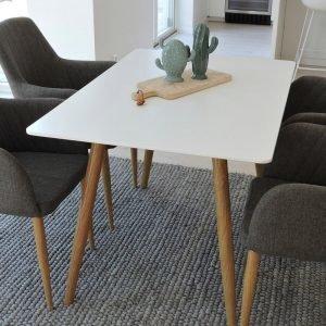 Ellos Polar Pöytä Ja 4 Comfort Tuolia Ruokaryhmä Monivärinen
