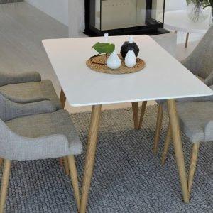 Ellos Polar Pöytä Ja 4 Plaza Tuolia Ruokaryhmä Monivärinen