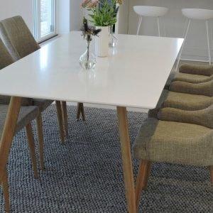 Ellos Polar Pöytä Ja 6 Plaza Tuolia Ruokaryhmä Monivärinen