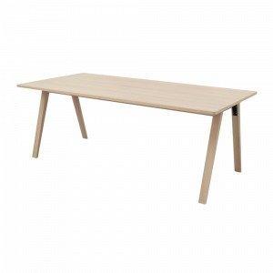 Ellos Ruokapöytä Stig Valkoinen 200x100 Cm