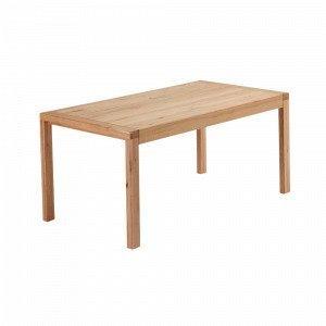 Ellos Vivy Ruokapöytä Luonnonvärinen 100x200+80 Cm