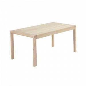Ellos Vivy Ruokapöytä Valkoinen 90x180+50 Cm