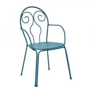 Emu Caprera Tuoli Käsinojilla Sininen