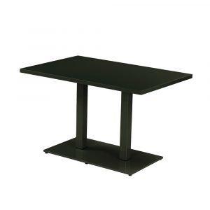 Emu Round Pöytä Musta 120x80 Cm