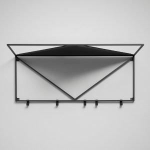 Essem Design Minimalisten Hattuhylly Musta 80 Cm