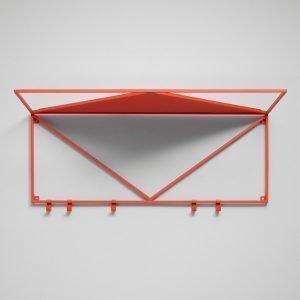 Essem Design Minimalisten Hattuhylly Punainen 80 Cm