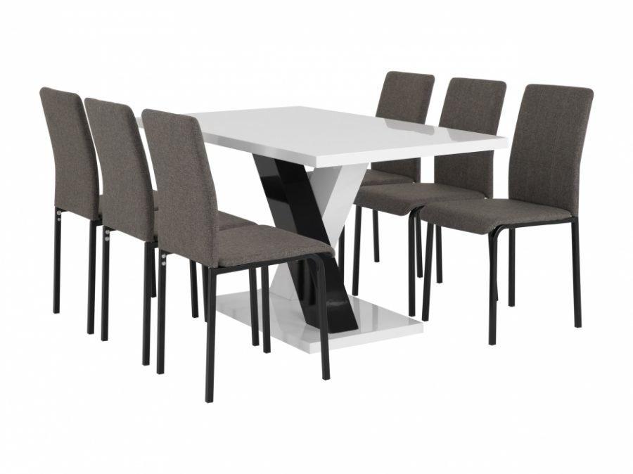 Essunga Pöytä 140 Valkoinen + 6 Veman Tuoli Useita värejä
