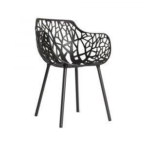 Fast Design Forest Käsinojallinen Tuoli Harmaa Metallic