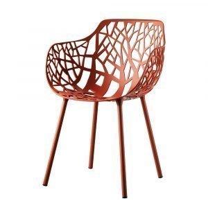 Fast Design Forest Käsinojallinen Tuoli Korallinpunainen