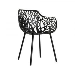 Fast Design Forest Käsinojallinen Tuoli Musta