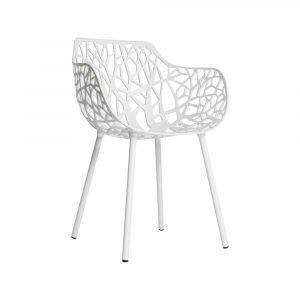 Fast Design Forest Käsinojallinen Tuoli Valkoinen