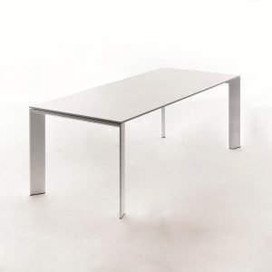 Fast Design Grand Arche Ruokapöytä Valkoinen 74x220x100 Cm