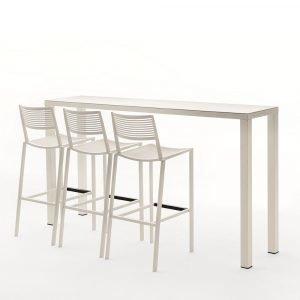 Fast Design New Easy Baaripöytä Valkoinen 110x140x70 Cm