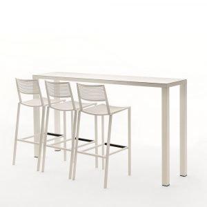 Fast Design New Easy Baaripöytä Valkoinen 110x200x45 Cm