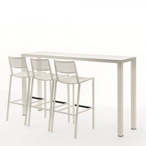 Fast Design New Easy Baaripöytä Valkoinen 110x200x70 Cm