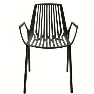 Fast Design Rion Käsinojallinen Tuoli Pinottava Musta