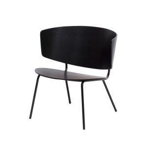 Ferm Living Herman Lounge Tuoli Musta
