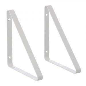 Ferm Living Metal Seinäkiinnike Valkoinen 2-Pakkaus