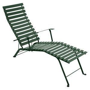 Fermob Bistro Chaise Longue Aurinkotuoli Cedar Green
