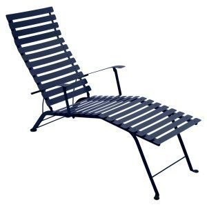 Fermob Bistro Chaise Longue Aurinkotuoli Deep Blue