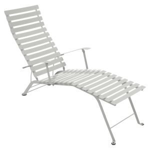 Fermob Bistro Chaise Longue Aurinkotuoli Steel Grey