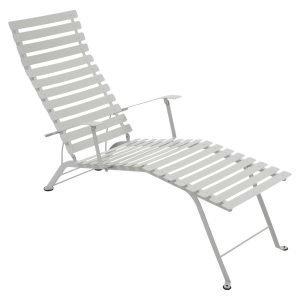 Fermob Bistro Chaise Longue Aurinkotuoli Steel Grey