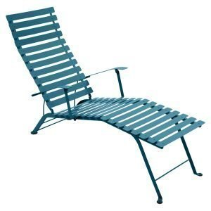 Fermob Bistro Chaise Longue Aurinkotuoli Turquoise