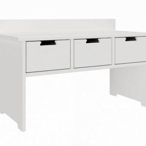 Flex Istuinpenkki 3 laatikkoa Valkoinen