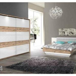 Forte Sänky 160x200 Cm Vaatekaappi 2 Yöpöytää