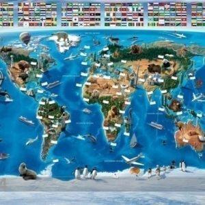 Gc Kuvatapetti Maailman Kartta 244x305 Cm