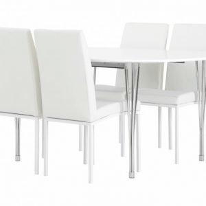 George Pöytä 160 + 4 Simona Tuolia Valkea