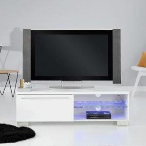 Gibson TV-Taso 120 LED-valaistuksella Valkoinen