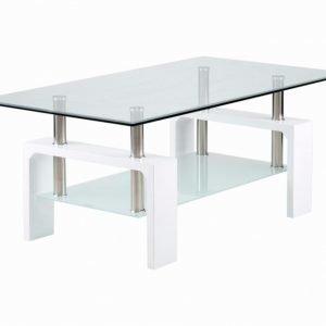 Grums Sohvapöytä 110 Valkea/Lasi