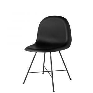 Gubi 1f Tuoli Musta / Musta H45 Cm