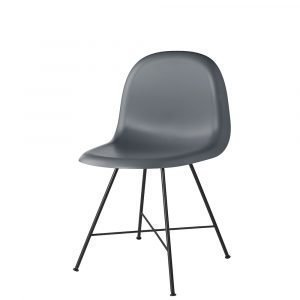 Gubi 1f Tuoli Musta / Tummanharmaa H45 Cm