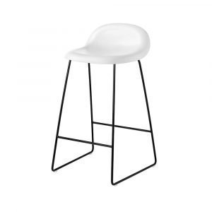 Gubi 3d Baarituoli Black / White Cloud H65 Cm