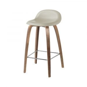 Gubi 3d Baarituoli Walnut / Moon Grey H65 Cm