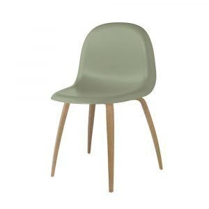 Gubi 3d Tuoli Oak / Mistletoe Green