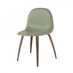 Gubi 3d Tuoli Walnut / Mistletoe Green