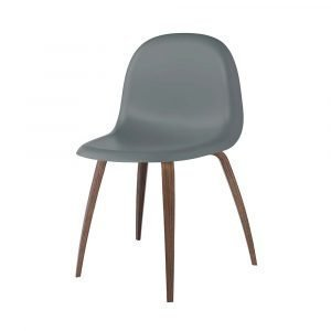 Gubi 3d Tuoli Walnut / Rainy Grey